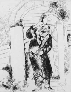 Marc Shagall. Manilov ('Dead Souls'). 1923-26