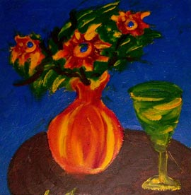 Нина Горланова. Цветы и вино